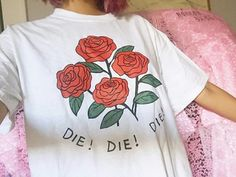 shirt tumblr flowers rose art art hoe graphic tee aesthetic