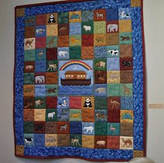 Noah's Ark quilt-- I've ordered the pattern book to make this one!! :)