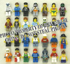 10 NEW LEGO MINIFIG PEOPLE LOT random grab bag of minifigure guys city town set #LEGO