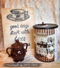 Csokis doboz - Ajándék, Dekoráció, Otthon, Lakberendezés. Photo Props, Jar, Decoration, Handmade, Home Decor, Decor, Hand Made, Decoration Home, Room Decor