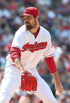 Cleveland Indians Andrew Miller came on to pitch against Los Angeles Angels in the inning at Progressive Field. (Chuck Crow/The Plain Dealer). Jacobs Field, Andrew Miller, Cleveland Indians Baseball, American League, Spring Training, Major League, Baseball Plays, Baseball Cards, Pitch