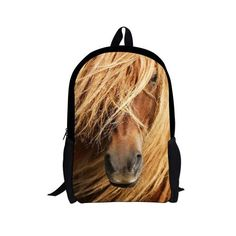 Crazy horse printing backpack for school kids girls bookbags e44d3f108aa46