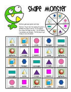 Like this Shape Monster game and Shape book (for 3D shapes)- free download