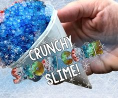 Diy fixing sticky watery floam slime simple easy crunchy snow cone slime so cool ccuart Image collections