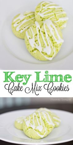 Key Lime Cake Mix Cookies with Icing - Domestically Speaking