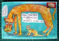 ¤ Bobberdilly's envelope critters.. #mail art by Missive Maven