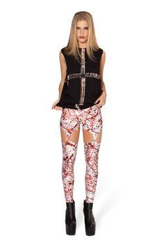 Blood Splatter Suspenders (48HR) - LIMITED › Black Milk Clothing Size S  FOR SALE $100