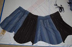 Veritably Vintage: How to Make a Skirt from Men's Dress Shirt Sleeves