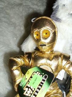 "STAR WARS BUDDIES BEAN TOYS ""C-3PO""    HASBRO  KENNER 1997  ALL AGES UNISEX #KENNERHASBROSTARWARS"