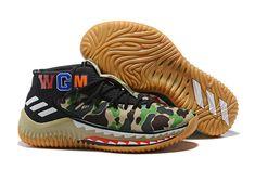 """super popular 06e17 b89c3 BAPE x adidas Dame 4 """"Green Camo"""" AP9974 Bape Shoes, Yeezy Shoes,"""