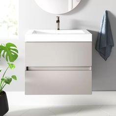 "Janice 24.5"" Wall-Mounted Single Bathroom Vanity & Reviews   AllModern"