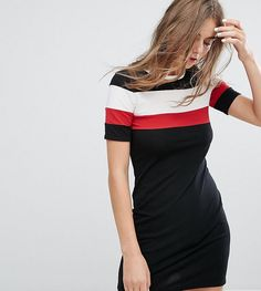 Get this Monki's casual dress now! Click for more details. Worldwide shipping. Monki Stripe Print T-Shirt Dress - Black: Dress by Monki, Soft-touch jersey, Crew neck, Contrast panels, Close-cut bodycon fit, Machine wash, 95% Cotton, 5% Elastane, Our model wears a UK S/EU S/US XS and is 176cm/5'9.5 tall, Exclusive to ASOS. If you�re all for personality and expression then Monki is the one for you. Known for its street-style-meets-Scandi-chic design and super-fun story-based store concepts…