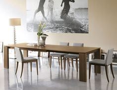 Source for the hospitality-contract market for contemporary European furniture Solid Oak Furniture, European Furniture, Table Furniture, Modern Furniture, Solid Wood Dining Table, Modern Dining Table, Dining Rooms, Extension Table, Banquet