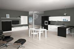 La cucina #IdeaBasic con anta in Melaminico si caratterizza per un design moderno raffinato in grado di renderla il centro della casa, luogo perfetto per condividere e progettare tutti i momenti della giornata.  Per voi questa soluzione!