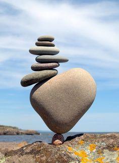 Michael Grab's Rock and Stone Balance Art Images Land Art, Photo Truquée, Michael Grab, Stone Balancing, Asymmetrical Balance, Stone Cairns, Balanced Rock, Balance Art, Balance Quotes