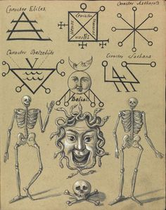 compendium of demonology and magic ca 1775 a selection of pages from an 18th century demonology book comprised of more than 30 exquisite watercolours showing various demon figures as well as magic and cabbalistic signs the full latin title
