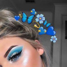 Makeup Eye Looks, Makeup For Green Eyes, Eye Makeup Tips, Makeup Goals, Beauty Makeup, Makeup App, Blue Makeup, Makeup Ideas, Cut Crease Eyeshadow