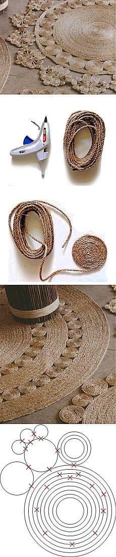 Коврики из сизалевой веревки | Очумелые ручки