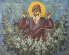 Πνευματικοί Λόγοι: Ο Άγιος Πορφύριος και το μυστικό σχινένιο κρεββάτι... Orthodox Icons, Bible, Books, Painting, People, Fresco, Biblia, Libros, Book