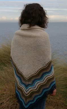 "Hap Shawl--another version of Gudrun Johnson's ""Hansel"" pattern."