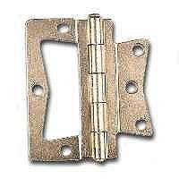 "Stanley Hardware 3-1/2-Inch Non-Mortise Hinge, Bright Brass #460816 by Stanley. $5.99. Amazon.com                The Stanley Hardware 3-1/2-inch non-mortise hinge has steel construction for added strength. With no mortising required, this hinge can be easily installed. This bright brass-plated hinge comes with a package of 1-inch screws.                                    Product Description                460816 Size: 3.5"" Features: -Corner hinge. -Bright brass finish. ..."