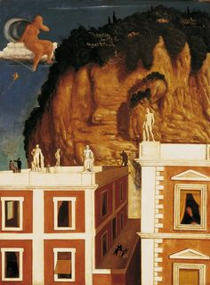 Giorgio de Chirico (Italian, b. Greece, 1888-1978). Roman Countryside, 1922. Tempera on canvas. 101.5 x 75.7 cm