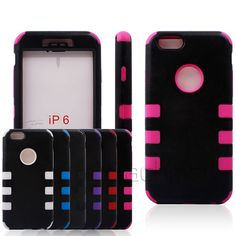 Wholesale Protective 3 in 1 Robot 6-dot Back Cover Case for 4.7 inch iPhone 6 iPhone6 Free Shipping
