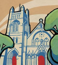 Alisa Perks: Painting a cathedral Gouache Painting, Cathedral, Art, Art Background, Kunst, Performing Arts