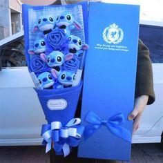 6cm Disney Traditions Lilo et Stich Stitch bouquet de roses