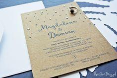 Starry Night Eco Rustic Wedding Invitation