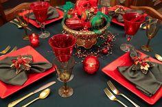adornos navideños para decorar la mesa de la cena navideña