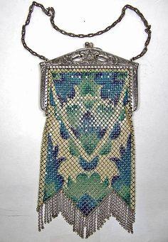 Mandalian Mesh Art Deco Purse from marshacraftsantiques on Ruby Lane