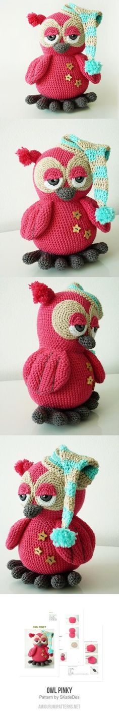 Owl Pinky amigurumi pattern ~ love it!