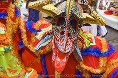 One of the Vejigantes in the Ponce, Puerto Rico version of Mardi Gras - a very lively week long event!