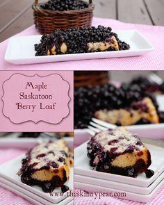Maple Saskatoon Berry Loaf Saskatoon Recipes, Saskatoon Berry Recipe, Healthy Treats, Yummy Treats, Delicious Desserts, Baking Recipes, Real Food Recipes, Dessert Recipes, Healthy Recipes