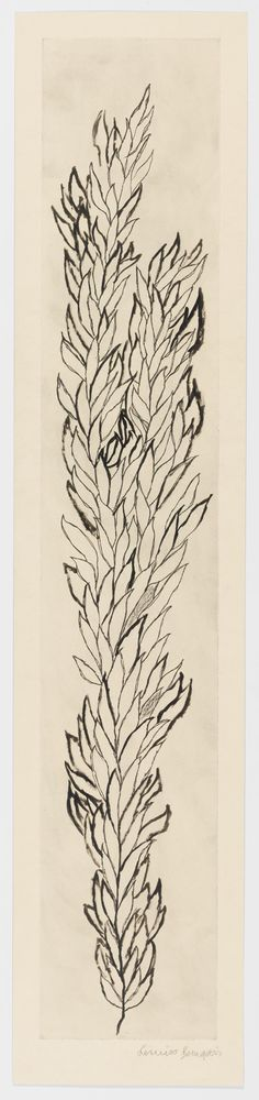 Would make a neat tat up the side of the back!! (Louise Bourgeois - Leaves 1, 2006)