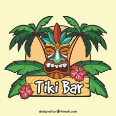 More than 3 millions free vectors, PSD, photos and free icons. Exclusive freebies and all graphic resources that you need for your projects Tiki Bar Signs, Tiki Bar Decor, Luau Theme Party, Aloha Party, Bares Tiki, Tiki Tattoo, Tiki Totem, Tiki Lounge, Tiki Art