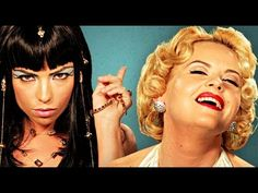 "Cleopatra VS Marilyn Monroe.  Epic Rap Battles of History Season 2.  I just about died when Marilyn went, ""Translate this into hieroglyphics, you're sandy..ahem has a seven year itch."""