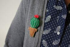 How to Make a Felt Cactus Brooch