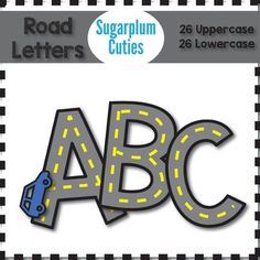 FREE printable Road Letters | Free Printable of the Day ...