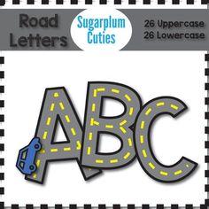 Free Printable Road Alphabet