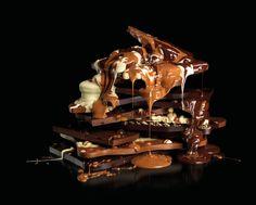 Melting Giant Chocolate Slabs