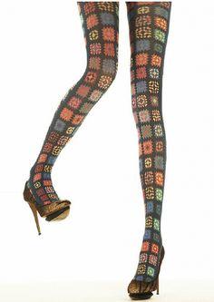 granny square crochet tights