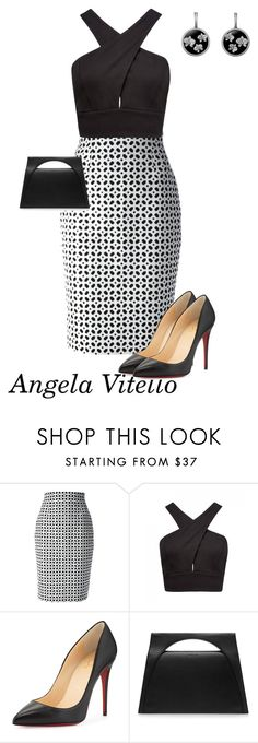"""""""Untitled #709"""" by angela-vitello on Polyvore featuring Alexander McQueen, Forever New, Christian Louboutin and J.W. Anderson"""