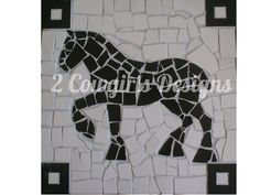 Draft horse mosaic by 2cowgirls on Etsy, $50.00