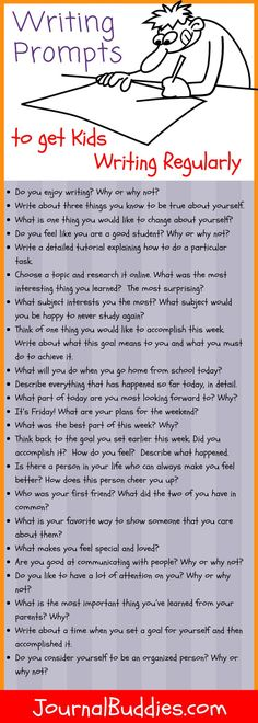 It's an English teacher's worst-kept secret: the more kids write, the better they get at writing. To help you get your students writing regularly, we've created a special month-long series of writing prompts to use in your middle school classroom. 5th Grade Writing, 6th Grade Ela, Middle School Journal Prompts, Writing Prompts For Kids, Writing Lessons, Kids Writing, Teaching Writing, Journal Prompts For Kids, Writing Journals