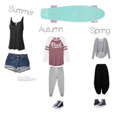 """Sk8er girl"" by adina-lupu-1 ❤ liked on Polyvore featuring LE3NO, Vans, Victoria's Secret and Converse"