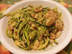 spaghetti di zucchine tonno e fagioli pasta light