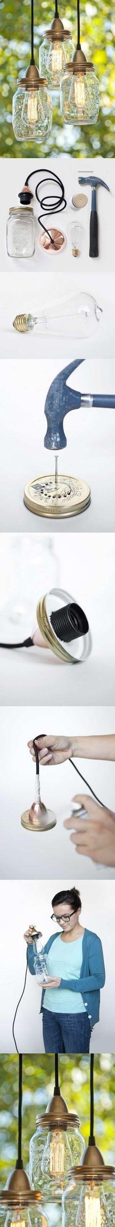 recycler des bocaux en lampes