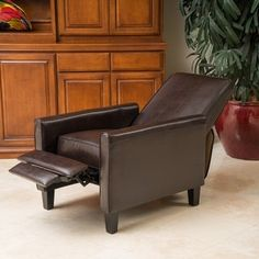 Shop for Darvis Brown Bonded Leather Recliner Club Chair by Christopher Knight Home. Get free shipping at Overstock.com - Your Online Furniture Outlet Store! Get 5% in rewards with Club O!